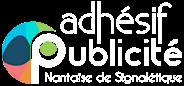 Adhésif Publicité - Logo blanc