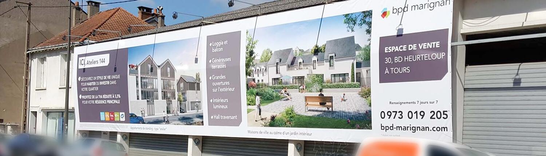 Signalétique extérieure - Adhésif Publicité - Votre signalétique adhésive sur Nantes (44)